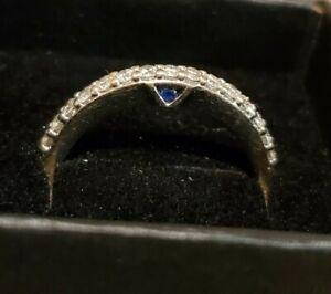 Vera Wang Love Diamond Wedding Anniversary Band 14K Ring White Gold With Box