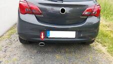 Ouverture D'Échappement Pour Opel Corsa E Turbo De 2015> Forme Ovale En Inox