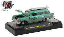 1:64 M2 Machines *AUTO-THENTICS 60* MAUI & SONS 1957 Chevrolet 150 Wagon *NIB*
