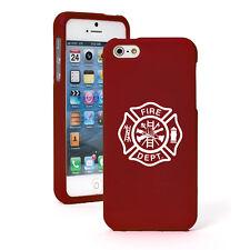 For Apple iPhone 4S 5 5S 5c 6 6s Plus Rubber Hard Case Firefighter Maltese Cross