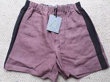 NEW Incredibly Smart Antipodium Grape Traxedo Cotton Shorts  Size: M RRP:£119
