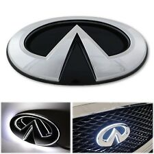 14-18 Infiniti Q50 Auto Schwarz & Chrom Led-Licht Frontgrill Emblem Logo