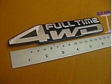 4WD FULL TIME LOGO BADGE EMBLEM REAR STICKER FIT FOR ALL FOUR WHEEL (si001)