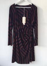 Laura Ashley Dress Size 20 NEW £85 Stretch Mock Wrap Drape Stripe