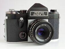Praktica Pentor Super TL 35mm SLR Film Camera m42 50mm f2.8 Lens - Working & EXC