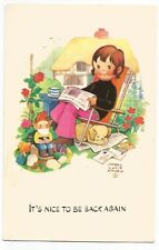 Postcard It's nice to be back again by Mabel Lucie Attwell   (A6)