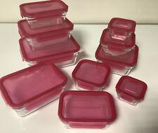 Glasslock 10er Set Frischhaltedosen Vorratsdose Glas Dose Behälter Beere  R2
