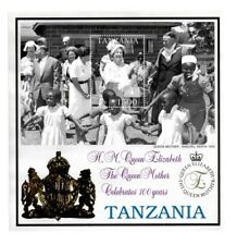 Tanzania 1999 Queen Elizabeth Gold Embossed - Souvenir sheet - MNH