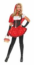 Ladies Red Riding Hood Costume Fairytale Fancy Dress Sexy Outfit Size 8-10