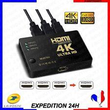 4K Commutateur intelligent HDMI HUB / Switch auto 3D 3 Ports Full HD