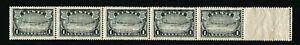 ESTONIA #149 Strip of 5 Narva Falls Stamps Postage 1940 Mint NH OG
