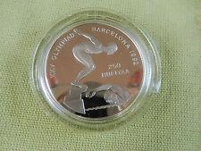 250 Rufiyaa 1990 Malediven Silber PP Schwimmen 1992 Barcelona