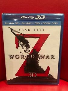 World War Z (Blu-ray/DVD, 2013, 3-Disc Set, Unrated Includes Digital Copy 3D)