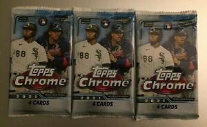 (3) 2021 TOPPS CHROME MLB BASEBALL Retail Blaster PACKS Sepia/Pink Refractors .
