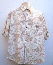 Dale Earnhardt Jr Chase Authentic Hawaiian SS Button Front Shirt Men's 3XL Beige