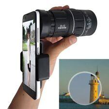 16X52 Universal Camera Lens Zoom Telescope Monocular+Holder Clip for Smart Phone