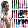 "Hot 24"" Ombre Kanekalon Dip Dye Jumbo Braid Synthetic Hair Extensions 55 Colors"