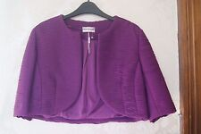 Minuet Petite Jacques Vert Purple Magenta Bolero Jacket  BNWT UK 14 US 10 EU 40