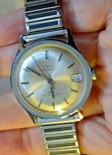 Vintage Timex Automatic Wristwatch Water Resistant Calendar Watch
