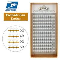 LASHVIEW 0.10mm C Curl Premade Fan Eyelash Extensions 3D-6D Volume Set Lashes