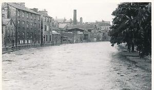 real original photograph Kendal Waterside warehouses floods. 14
