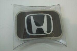 Belt Buckle Licensed Full Color Gloss Honda Black / White Logo Wood Back Design