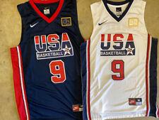 Michael Jordan 9 USA Olympics Dream Team Navy / White Stitched Basketball Jersey