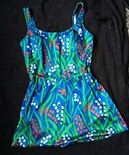 Miss Mary of Sweden Swim dress (skirt style )with floral front.VGC ..Size 18