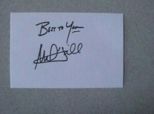 MARK HAMILL SIGNED 4x6 INDEX CARD AUTOGRAPH - STAR WARS