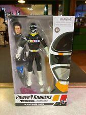 "Hasbro Power Rangers Lightning Collection IN SPACE BLACK RANGER 6"" Figure NIP"