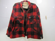 Vintage Penney's Big Mac Red & Black Check Wool Jacket