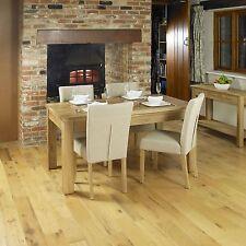Mobel solid oak furniture large extending dining room table