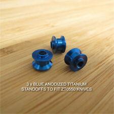 Zero Tolerance ZT0550 ZT 550 Knife BLUE Anodized Custom Titanium Ti Standoff Set