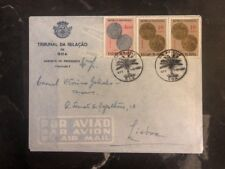 1959 Goa Portuguese India First Day Airmail cover FDC to Lisbon Coins
