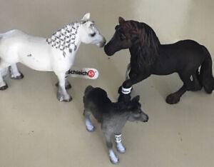 Schleich Fell Ponies 13739 13740 13741