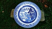 """Churchill England Blue and White Willow 10 1/4"""" Dinner Plate  Ex Cond"""