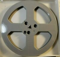 "Rare Empty 7"" Reel to Reel take up reel. Solid light Gray Color"