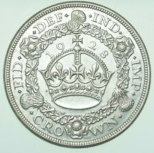 More details for rare 1928 george v wreath crown, british silver coin [only 9034 struck] ef