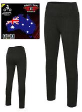 Bikers Gear Ladies Motorcycle Leggings Jeans Kevlar® Lined CE Armour Optional