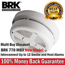 BRK 770 Mains Power Smoke Alarm, Interlink Ionisation Smoke Alarm Battery Backup