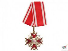 Cross of Order of St. Stanislaus 3d Class without swords red black enamel Russia