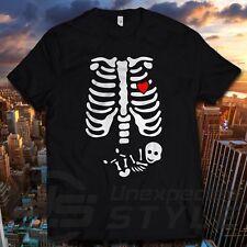 Skeleton BABY HALLOWEEN T-shirt pumpkin maternity Pregnant Tshirt Unisex Ladies
