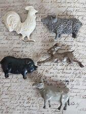 Van Deurs Magnete animals 5er Set Memoboard Magnet Metall kleines schwedenhaus