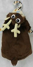 """Christmas Doggie Gear Hooded Reindeer Pet Dog Coat Size Small 10.5"""" L NWT"""