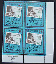 NATIONS-UNIS (New-York) timbre/stamp Yvert et Tellier n°734 x 4 n** (Cyn14)