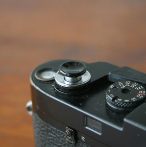 Black Medium Concave Soft Release Button for Leica M6 MP M8 M9 X100 Nikon Canon