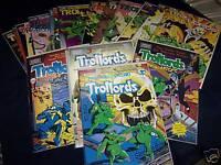 TROLLORDS lot of 18 Comics Comico Apple & Tru Studios