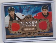 2008-09 UD ARTIFACTS GAGNE HEATLEY GOLD TUNDRA TANDEMS DUAL JERSEY /25 TT-GH