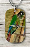 BIRD GREEN CHEEKED CONURE #2 DOG TAG NECKLACE f6y3ra