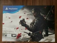 Ghost of Tsushima 26 X 18 Poster Promo Playstation 4 THICK Display Ad Brand New